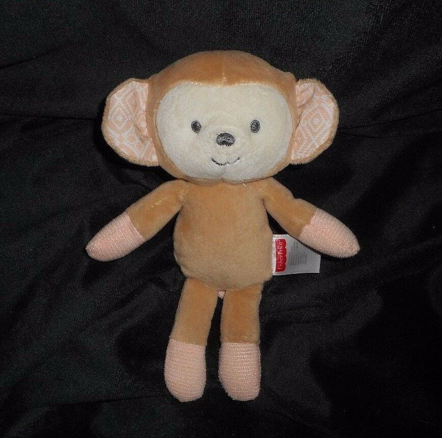 "8"" FISHER PRICE SWEET SURROUNDINGS BABY MONKEY BROWN STUFFED ANIMAL PLUSH TOY"