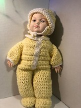 """Vintage 16"""" Fibre Craft Boy Doll With Homemade Crocheted Outfit And Hat ... - $6.25"""