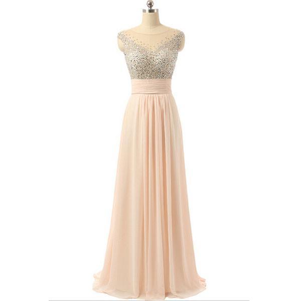 Long Prom Dresses,Blush pink Prom Dresses,Charming Prom Dress,2018 Prom Dresses