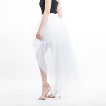 Black Slit Tulle OVERSKIRT Elastic Waist hilo Tulle Skirt Open Skirt Over Skirt image 10