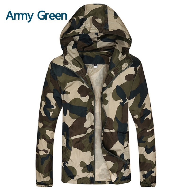 Men's Fashion Casual Camouflage Thin Jacket Male Slim Fit Spring Autumn Outwear