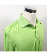 FootJoy Mens Medium Golf Polo Shirt Bright Green Poly Athletic Sports  - $17.95