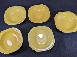 Vintage Homer Laughlin Riviera Yellow Berry Bowls, 5pc. image 2