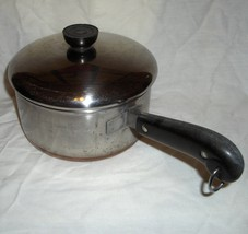 Revere Ware Thick Copper Clad Stainless Steel 2Qt Saucepan & Lid, #rw189 - $18.95