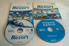 Wii Sports + Wii Sports Resort (Wii, 2006) Nintendo Sports Games - $41.57