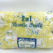 Vintage 2 in 1 Baby Buntie Quilt Zip Blanket Bag Elephant Deer NEW OPEN ... - $44.95