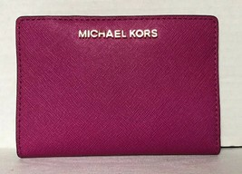 New Michael Kors Jet Set Travel Medium Card Case Carryall wallet Leather... - £44.91 GBP