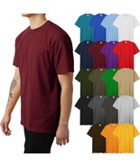 Mens HEAVY WEIGHT T Shirts SUPERMAX Plain Tee BIG AND TALL 5XL Solid Cre... - $13.29+
