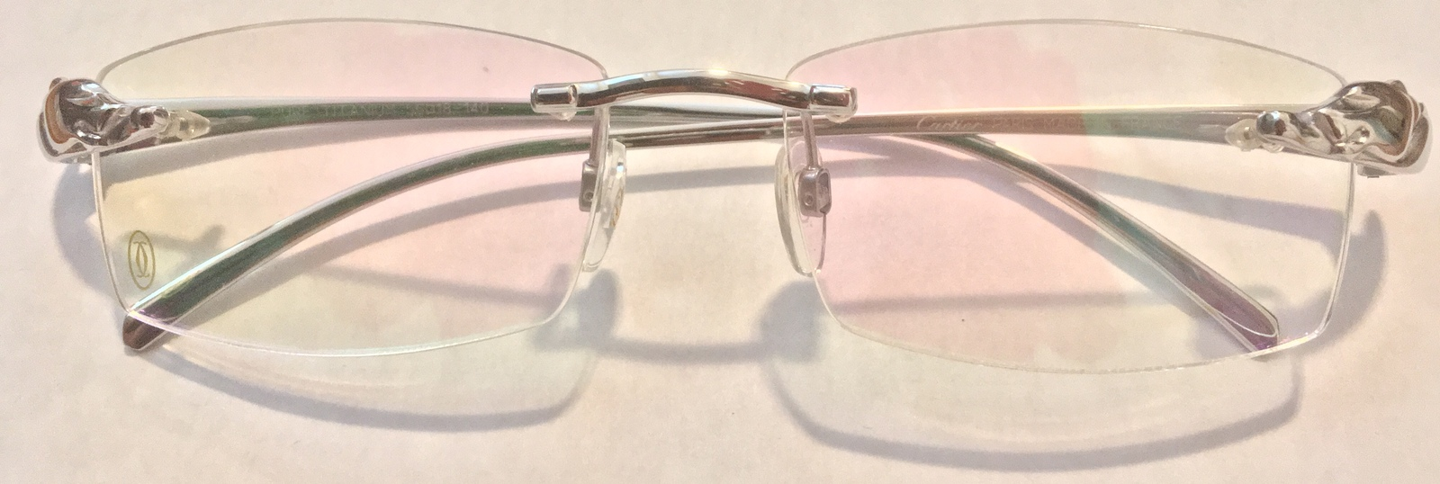 e2fcfefca2 PANTHÈRE Cartier Titanium Silver Rimless and 50 similar items. Img 1374