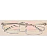 PANTHÈRE Cartier Titanium Silver Rimless Pink Tint Eyeglasses Frames 56/... - $499.99