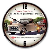 Retro Nostalgic 1957 Chevrolet Task Force Cameo Truck Lighted Backlit Wa... - $129.95