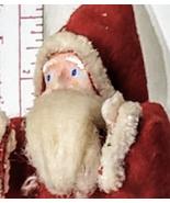 """Antique Santa Paper Mache Figure Christmas Decor 7"""" Marked Japan - $49.99"""
