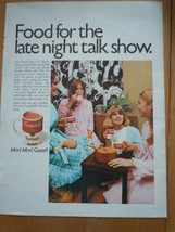 Vintage Campbell's Soup Food for The Late Night Talk Show Print Magazine... - $5.99