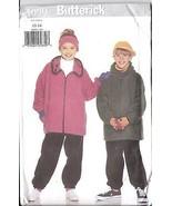 Non Découpé Vintage Butterick Patron Couture Veste Fille Pantalons Cap - $4.83