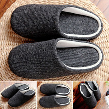 Comfy Slippers Cotton Soft Non-slip Solid Cozy Anti-slip Indoor Warm Sty... - $30.40