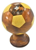 Decorative handmade thuya wooden collection footbal soccer box from Morocco - $69.90