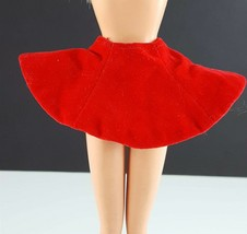 Barbie 942 Ice Breaker Red Velvet Skirt Original 1962 Clothing - $9.89
