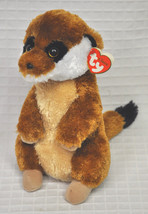New BURROWS Ty Classic MEERKAT TySilk BROWN Stuffed Animal 2011 Plush 10... - $24.70