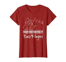 Teacher Style - Curious Cat Easily Distracted by Bass Players T-Shirt Wowen - $19.95+
