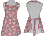 Full Kitchen Apron,  Mauve with Pansies in a Vintage Apron Style, Size M/L
