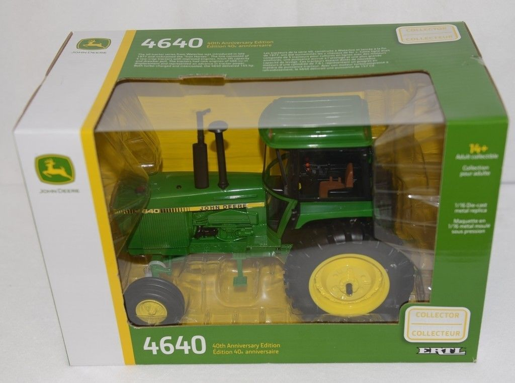 John Deere LP64477 Collector Edition Die Cast Metal Replica 4640 Tractor