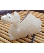 Handmade home decor Onyx Marble Camel statue sitting Birthday gift - $27.72