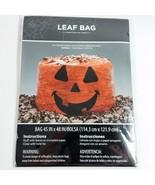 Giant Huge Halloween Pumpkin Leaf Bag Yard Lawn Decor Jack O Lantern Dec... - $7.99