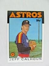 Jeff Calhoun Houston Astros 1986 Topps Baseball Card Number 534 - $0.98