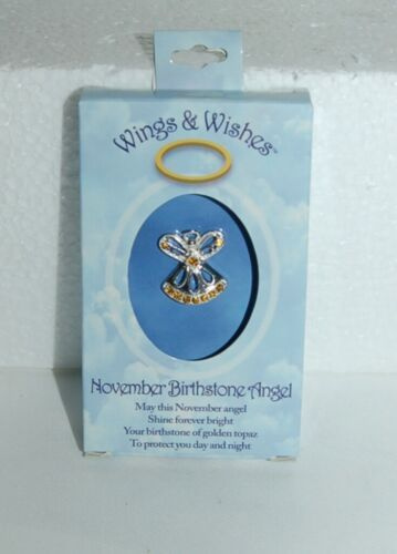 DM Merchandising Wings Wishes WGW11 November Birthstone Angel