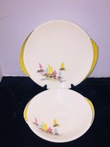Edwin M. Knowles China Co. Yorktown Plate And Bowl Mid Century Asian Boa... - $34.64