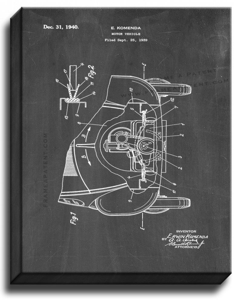 Primary image for Motor Vehicle Patent Print Chalkboard on Canvas