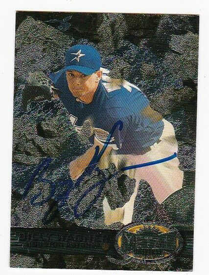 BILLY WAGNER AUTOGRAPHED CARD 1997 FLEER METAL UNIVERSE HOUSTON ASTROS