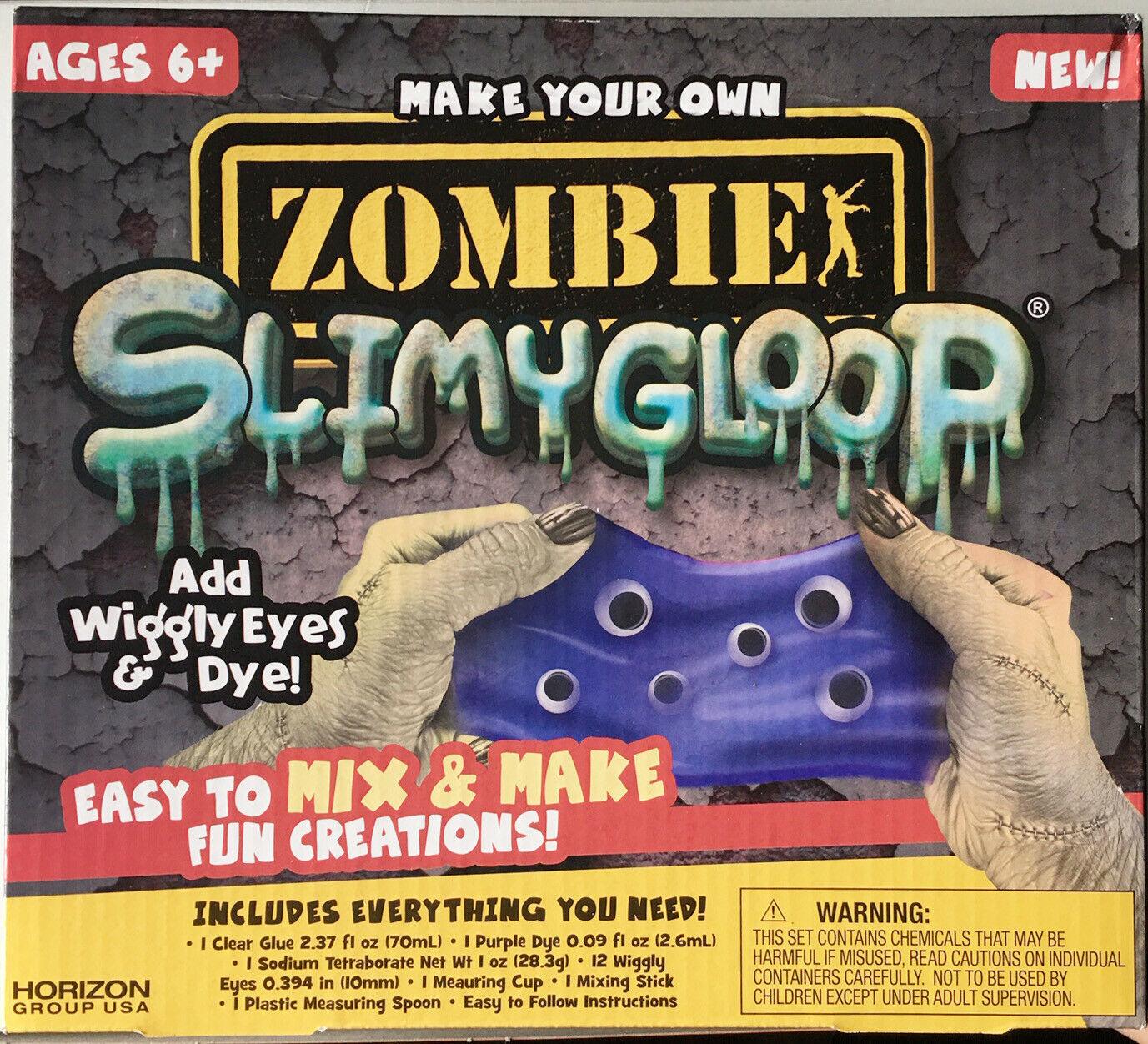 Zombie Slimygloop Wiggly Eyes Creations Slime Maker Kids Craft Educational Fun