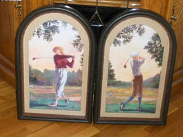 Vintage Home Interiors Set of Golf Pictures Sambataro Homco  - $89.99