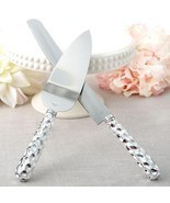 Hammered design handle Cake knife & server set  - $12.99