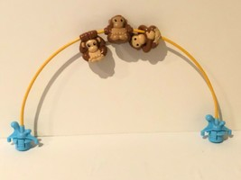 Evenflo Exersaucer Replacement Toy Bar Arch Zoo Friends Switch A Roo Monkeys  - $14.99