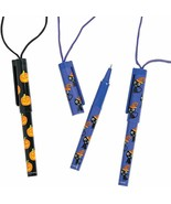 Halloween Pen On A Rope (12 Pieces) Pumpkins and Witches! Purple and Bla... - $7.59