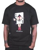 Deadline Hommes Noir ou Blanc Cul De Spades de Jeu Carte Fille Boots T-Shirt Nwt