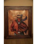 "Doreman Burns Cowgirl Signed Print Framed 21"" x 25"" - $195.00"