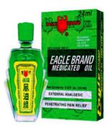 12 Box Eagle Brand Medicated Oil DAU GIO XANH CON O For Aches Sprains Pa... - $67.80
