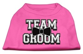Team Groom Screen Print Shirt Bright Pink Lg (14) - $11.98