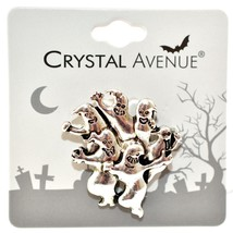 Crystal Avenue Silver-Tone Halloween Ghost Pin Brooch image 2