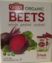 Organic Red Beets whole peeled cooked 3 pack 17.6 oz 3.3 lbs image 1