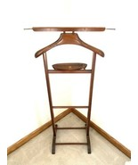 VTG BUTLER Stand Clothes Suit Rack SPQR MADE IN ITALY Wood CLOTHING - $128.69