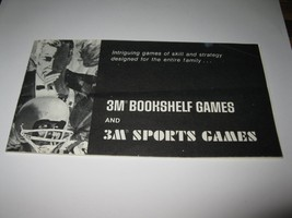 1964 Stocks & Bonds 3M Bookshelf Board Game Piece: 3M game Product Guide Book  - $3.00