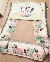 Classic Baby Crib Bumper Lining Padded Baby Mickey & Minnie Mouse Liner - $68.00