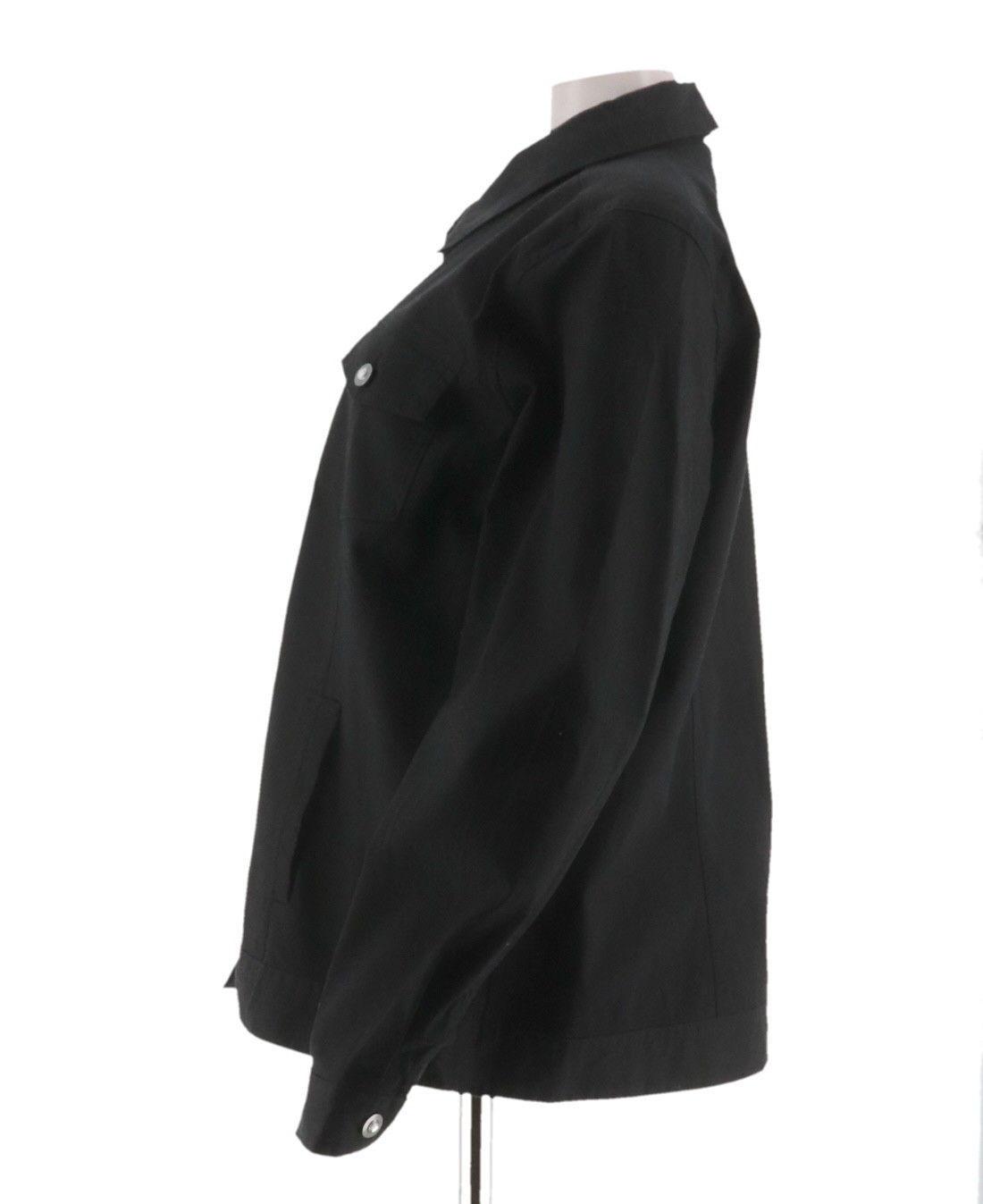 Denim & Co Elegant Stretch Twill Jean Jacket Bling Button Black XS NEW A199936