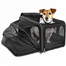 Good2Go Expandable Pet Carrier Size Large Colors Black on Black With Gray - $49.54