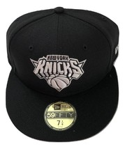 NWT New York Knicks New Era 59Fifty Black & White Fit2 Size 7 1/4 Fitted... - $21.00