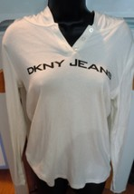 DKNY Jeans White Hoodie Top Size M New Without Tag - $12.99